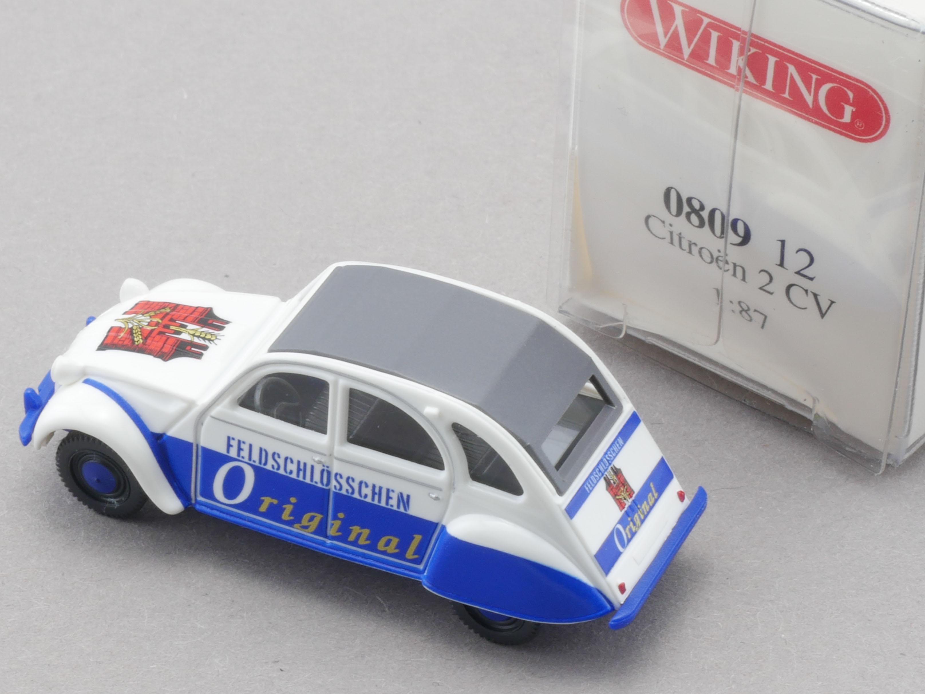 1//87 Wiking Citroen 2 CV Feldschlösschen Original 0809 12