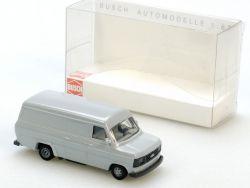 Busch 42400 Ford Transit Lieferwagen grau Modellauto 1:87 NEU