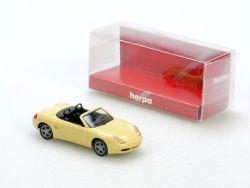 Herpa 022804 Porsche Boxster S Cabrio hellgelb PKW 1:87 NEU!