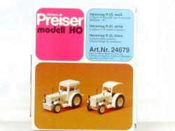Preiser 24679 Hanomag R 55 weiß 2 Stück Bausatz 1:87 H0 OVP