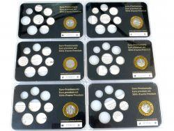 Münzkontor 6x Sondermünze, Medaille, Tableaus, case für Euro KMS AW