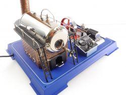 Wilesco D 242 Schwere Dampfmaschine elktrisch beheizt wie NEU OVP AW