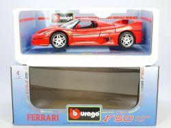 Bburago Burago 3362 Ferrari F50 Hard-Top 1995 MIB Neu OVP