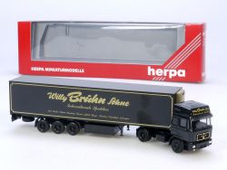 Herpa 143417 MAN Willy Brühn Söhne Spedition Sattelzug SZ LKW OVP