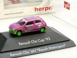 Herpa 035859 Renault Clio 16 V Cup 93 Rauch Motorsport PC Vitrine OVP