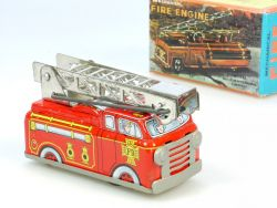Yone Shackman 2038 Mechanical Fire Engine Feuerwehr Blech OVP