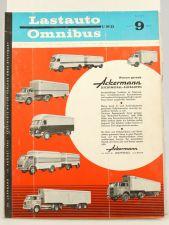 Lastauto Omnibus Nr. 9 / 1962 orig. Zeitschrift Ackermann MAN Opel