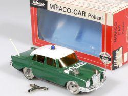 Schuco 1001/1 Miraco-Car Mercedes MB 220 W 111 Polizei geprüft OVP