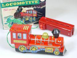 Marx J-9646 Toys Locomotive Dampflok Batterie Battery Japan Blech OVP