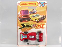 Matchbox 24 D Superfast Team Matchbox No. 8 Diecast Lesney MOC OVP