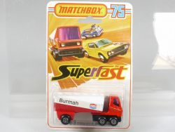 Matchbox 63 D Superfast Freeway Tanker Burmah MOC rare card OVP