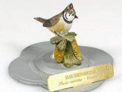 Haefelin Haubenmeise Meise handbemalt Vogel Zinnfigur Gould Skulptur