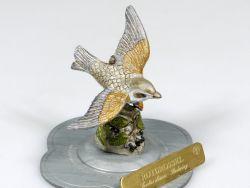 Haefelin Rotdrossel handbemalt Figur Vogel Zinnfigur Gould Skulptur