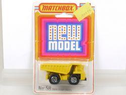 Matchbox 58 Superfast Faun Dump Truck Diecast Lesney N MOC OVP