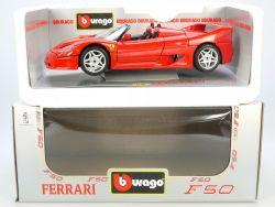 Bburago Burago 3352 Ferrari F50 1995 Cabrio 1/18 MIB Neu NOS OVP ST