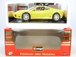 Bburago Burago 3368 Ferrari 360 Modena 1999 gelb MIB 1/18 OVP ST