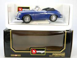 Bburago Burago 3051 Porsche 356 B Cabrio blau MIB Neu 1/18 OVP