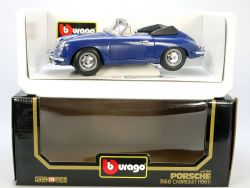 Bburago Burago 3051 Porsche 356 B Cabrio blau MIB Neu 1/18 OVP SG