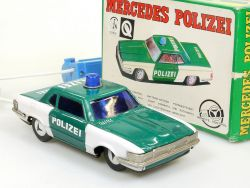 T.T Japan Mercedes Polizei Blechauto Tin MB 300 SL R C 107 OVP