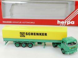 Herpa MB Mercedes Schenker Spedition Pritschen-Sattelzug LKW OVP