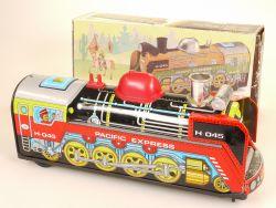 EGE Juguetes 104 Dampflok Loco Pacific Express Spain Blech Box OVP