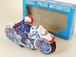 Japan 51 Police Department D.P. Bike Motorrad Blech Friktion 60er OVP