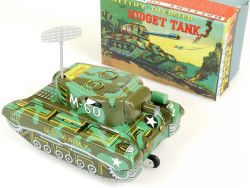 Alps Midget Tank M-60 US Army Battery Tin Toy Panzer Japan MIB OVP SG