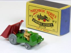 Matchbox 2 B Lesney Muir Hill Site Dumper miss production! N MIB OVP