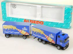 Albedo 200359 MAN Gerri Limonade Koffer-Hängerzug HZ LKW 1:87 NEU OVP
