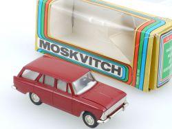 Moskvitch 426 Kombi altes Modell dunkelrot 1:43 Russland USSR OVP