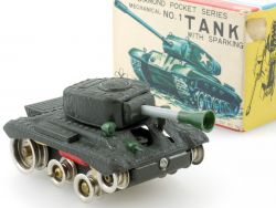 Yonezawa Diamond Pocket Series 1 Tank Panzer Uhrwerk Blech MIB OVP