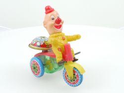 Haji Japan Clown Dreirad Blech Uhrwerk geprüft alt original selten