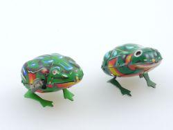 MS 002 082 Konvolut 2x Frosch Frog Blech Uhrwerk tlw. defekt
