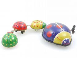 China Marienkäfer Familie Ladybug Uhrwerk defekt Blechspielzeug