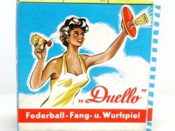 Carl Amm Duello Federball Fang- Wurfspiel 50er Jahre original OVP SG