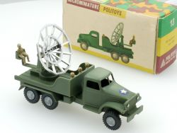 Politoys 13 Autocarro con radar LKW mit Radar Militär 1:41 OVP