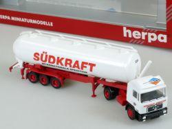 Herpa MAN Südkraft Spedition SKS Tank-Sattelzug SZ LKW 1:87 OVP