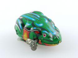 MS 002 Springender Frosch Jumping Frog uhrwerk Blech Funktion geprüft