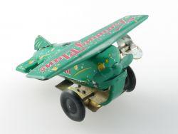 China MS 011 Training Plane Flugzeug Blech Uhrwerk leicht defekt