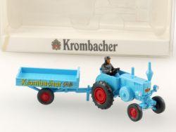 Wiking 2848 Lanz Bulldog mit Anhänger Allgaier Kormbacher Pils OVP SG