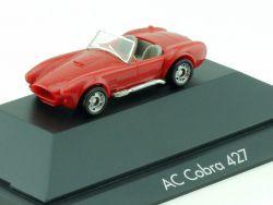 Monogram AC Cobra 427 seltene Farbe rot Modellauto PC Vitrine EVP
