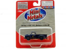 Mini Metals 30234 Ford F-350 Baltimo & Ohio B&O RR '54 1954 1:87 OVP