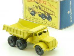 Matchbox 6 C Regular Wheels Euclid Quarry Truck Tipper Kipper OVP