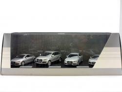 Schuco Siegermodelle 2007 Audi TT Coupe Q7 A4 R8 Vitrine 1:43 OVP