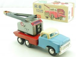 MF 774 Crane Truck tin toy Blech China old really near mint N MIB