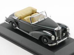 Minichamps Mercedes MB 300 S W 188 Cabrio schwarz Vitrine tlw. OVP
