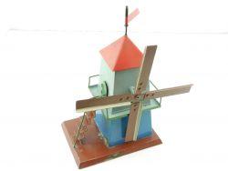 Handarbeitsmodell Blech Mühle Windmühle Antriebsmodell Eigenbau alt