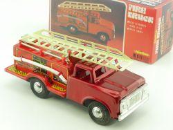 MF 163 Fire Truck Feuerwehr Blechspielzeug alt original China OVP STG