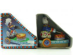 MS 565 Drumming Animal Panda Uhrwerk Blechspielzeug China OVP SG