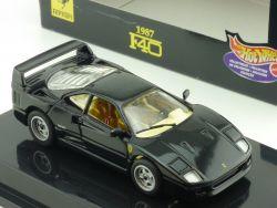Mattel Hot Wheels 22166 Ferrari F40 1987 schwarz Modellauto 1:43 OVP